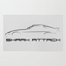 Shark Attack - All Black Rug