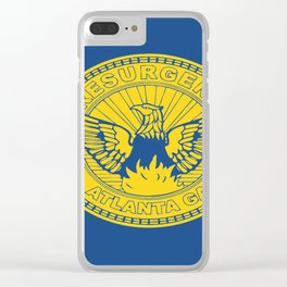 flag of atlanta Clear iPhone Case