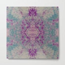 Odono - Abstract Colorful Boho Chic Tie-Dye Style Mandala Art Metal Print