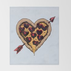 Pizza Love Throw Blanket