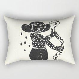 the girl and the snake Rectangular Pillow
