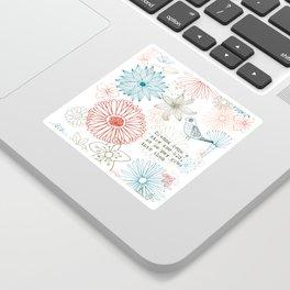 Floral dreams Sticker