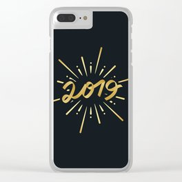 Happy New Year Silvester Firework Gift Idea Clear iPhone Case