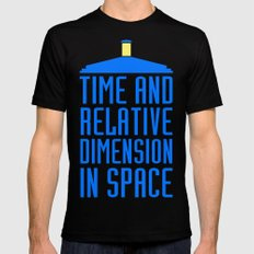 Doctor Who: The Tardis! Time and Relative Dimension in Space Black Mens Fitted Tee 2X-LARGE