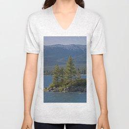 Trees +Tahoe IV Unisex V-Neck
