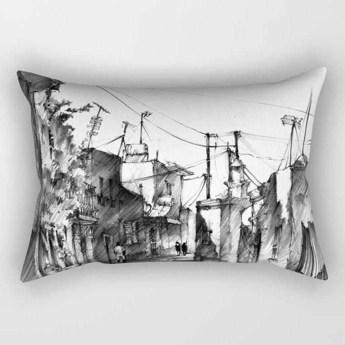 Rhodes backalley Rectangular Pillow