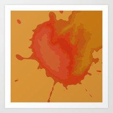 Splat on Brown - by Friztin Art Print