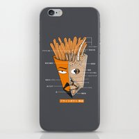 french fries iPhone & iPod Skins featuring French Fries Anatomy by pigboom el crapo
