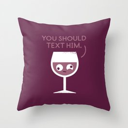 You Red My Mind Throw Pillow