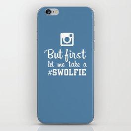 #swolfie iPhone Skin