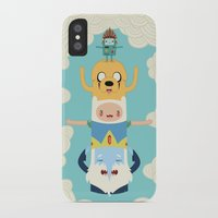 jake iPhone & iPod Cases featuring Adventure Totem by Daniel Mackey
