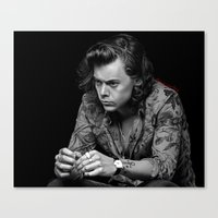 harry Canvas Prints featuring harry  by otp-hedgefrog