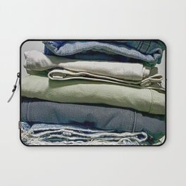 A STACK OF JEANS Laptop Sleeve