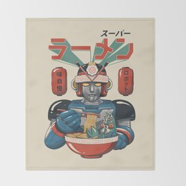 Super Ramen Bot Throw Blanket