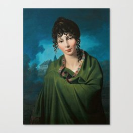 Johann Friedrich Bury - Countess Luise von Voss (1810) Canvas Print
