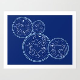 Doctor Who Gallifreyan - We're All Stories quotes Art Print