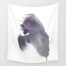Dusk, Fashion Illustration in Watercolor Wall Tapestry