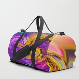 psychedelic graffiti abstract pattern in purple pink brown blue Duffle Bag