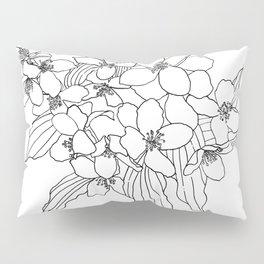 Jasmine line work Pillow Sham
