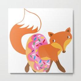 Fox and doughnut Metal Print