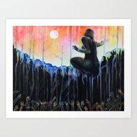 Gaia cries at dawn for the Lost Art Print