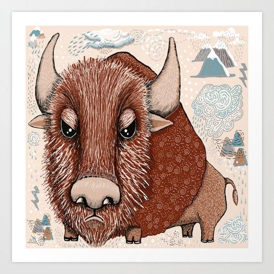 American Buffalo Bison Southwest Southwestern Art Print
