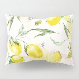 Watercolor lemons Pillow Sham