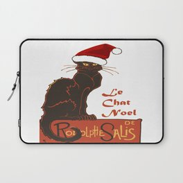 Le Chat Noel Christmas Vector Laptop Sleeve