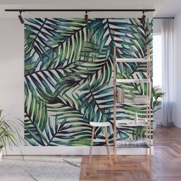 Palm Leaves Abstract Wall Mural