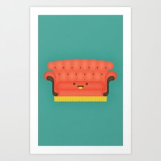Friends Chair Art Print