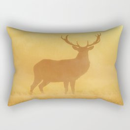Wild Sunset (Profile of Deer) Rectangular Pillow