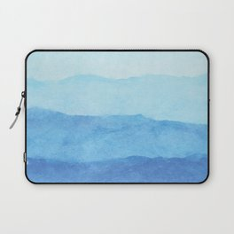 Ombre Waves in Blue Laptop Sleeve