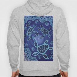 Aboriginal Art Authentic - Sea Turtles Hoody