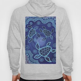 Aboriginal Art Authentic - Sea Turtles Hoody