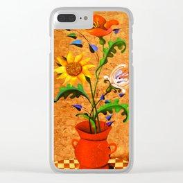 Vertical bouquet. Flowers. Clear iPhone Case