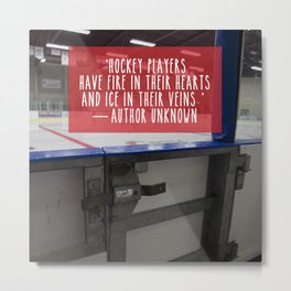 Hockey Passion Metal Print