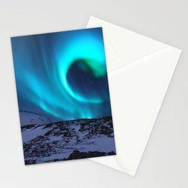 Aurora BorealiS Mountains Stationery Cards