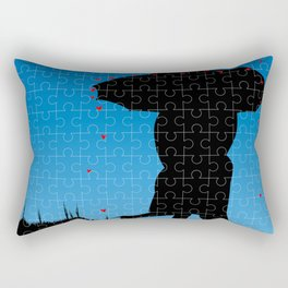 Love Jigsaw Rectangular Pillow