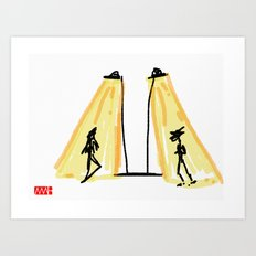 Strangers in The Light Art Print