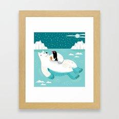 Hitching A Ride  Framed Art Print