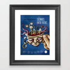 Sozinhos Entre Fatias Framed Art Print