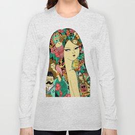 Girl with Tattoo Long Sleeve T-shirt