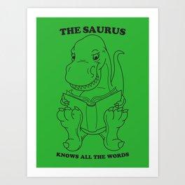 Thesaurus Art Print