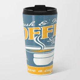 Vintage poster- Coffee Travel Mug
