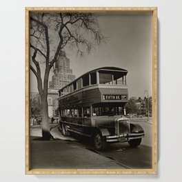 New York Vintage picture Bus (circa 1935) Serving Tray