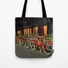 Ride to the bridge Tote Bag
