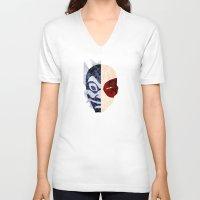 zuko V-neck T-shirts featuring Blue Spirit by sambeawesome