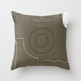 Branded Abstract 11 Throw Pillow