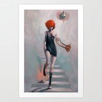 cinderella Art Prints featuring Cinderella by Rudy Faber