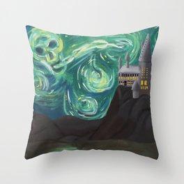 Starry Night at Hogwarts Throw Pillow